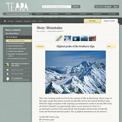 Highest peaks of the Southern Alps – Mountains