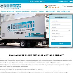 Highland Park Moving Companies, Long Distance Moving Company Highland Park TX