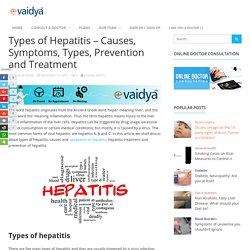 Highlight on Hepatitis- Types, Symptoms and Treatment Methods