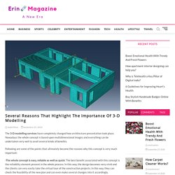 Several Reasons That Highlight The Importance Of 3-D Modelling - Erin Magazine