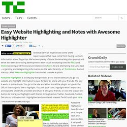 Easy Website Highlighting and Notes with Awesome Highlighter