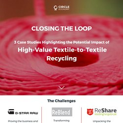 3 Case Studies Highlighting the Potential Impact of High-Value Textile Recycling