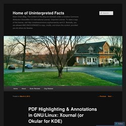 PDF Highlighting & Annotations in GNU/Linux: Xournal (or Okular for KDE)