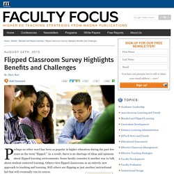Flipped Classroom Survey Highlights Benefits and Challenges