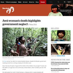 Awá woman's death highlights government neglect