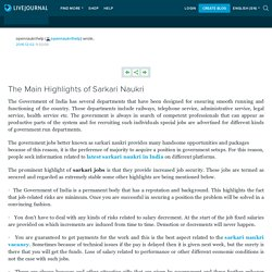 The Main Highlights of Sarkari Naukri: opennaukrihelp