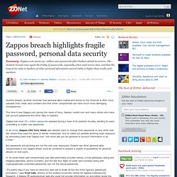 Zappos breach highlights fragile password, personal data security