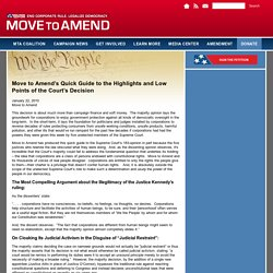 Move to Amend's Quick Guide to the Highlights and Low Points of the Court's Decision