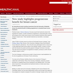 New study highlights progesterone benefit for breast cancer