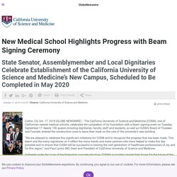 New Medical School Highlights Progress with Beam Signing Ceremony