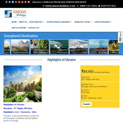 Ukraine Tour/Holiday Packages