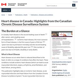 Heart disease in Canada: Highlights from the Canadian Chronic Disease Surveillance System, 2017