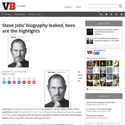 Steve Jobs' biography leaked, here are the highlights