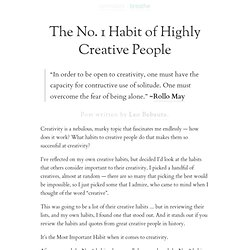 » The No. 1 Habit of Highly Creative People