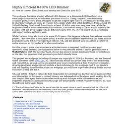 Highly Efficient 0-100% LED Dimmer