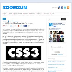 14 Highly Useful Online CSS3 Generators