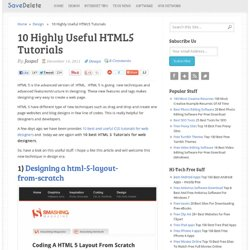 10 Highly Useful HTML5 Tutorials