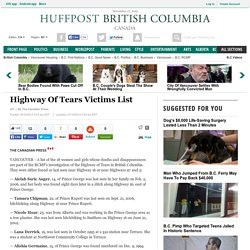 Highway Of Tears Victims List