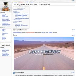 Lost Highway: The Story of Country Music