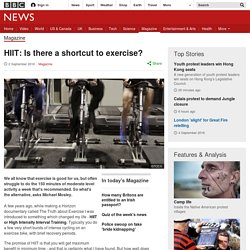 HIIT: Is there a shortcut to exercise?