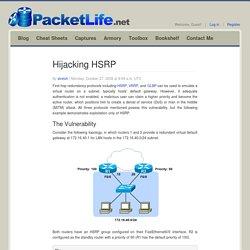 Hijacking HSRP