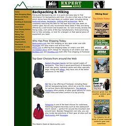 Hiking and Backpacking - Hiking and Backpacking.com