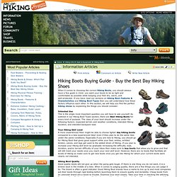 Hiking Boots Buying Guide - Buy the Best Day Hiking Shoes