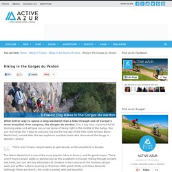 Hiking in the Gorges du Verdon