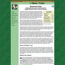 Dan's Hiking Pages: Sturtevant Falls