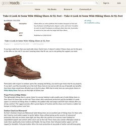 Take A Look At Some Wide Hiking Shoes At XL Feet - Take A Look At Some Wide Hiking Shoes At XL Feet by ADRIAN COULTER