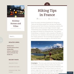 Hiking Tips in France
