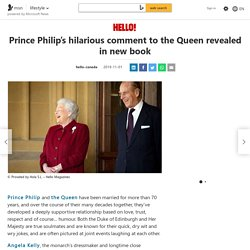Prince Philip's hilarious comment to the Queen revealed in new book