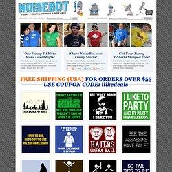 Funny T-Shirts at NoiseBot.com