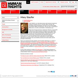 Hilary Stauffer - People - Centre for the Study of Human Rights