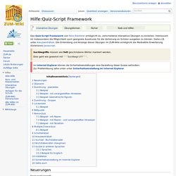 Hilfe:Quiz-Script Framework – ZUM-Wiki