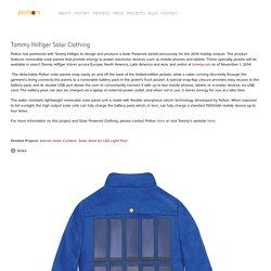 Tommy Hilfiger Solar Clothing — pvilion