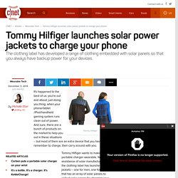 Tommy Hilfiger launches solar power jackets to charge your phone - CNET