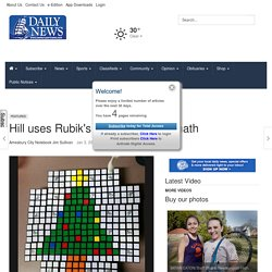 Hill uses Rubik's Cubes to teach math