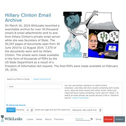 Hillary Clinton Email Archive