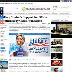 Hillary Clinton's Support for GMOs Confirmed by Gates Foundation