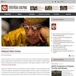 Hillary's War Crime
