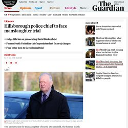 Hillsborough police chief to face manslaughter trial