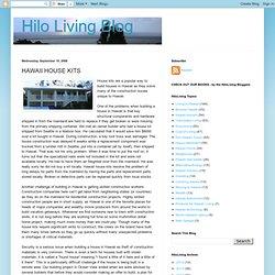HAWAII HOUSE KITS