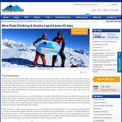 Himalayan Glacier Trekking : Mera Peak Climbing, Mera Peak Expedition, Mera Peak