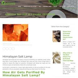 Himalayan Salt Lamp, Purification by Himalayan Salt Lamp