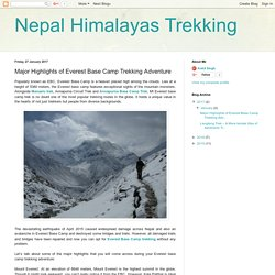 Nepal Himalayas Trekking: Major Highlights of Everest Base Camp Trekking Adventure