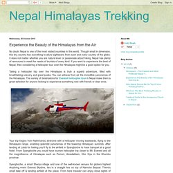 Experience the Beauty of the Himalayas from the Air