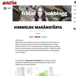 HIMMELSK MARÄNGTÅRTA – Fridas Bakblogg