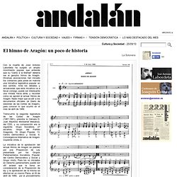 El himno de Aragón: un poco de historia « Andalán.es
