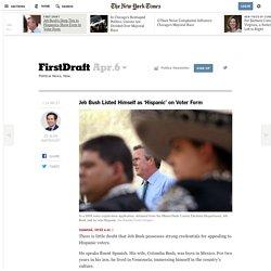 Jeb Bush Listed Himself as 'Hispanic' on Voter Form